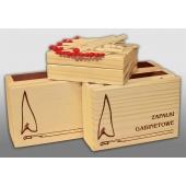 Išskirtiniai degtukai medinėje dėžutėje 88