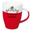 Porcelianinis puodelis MEZZO red