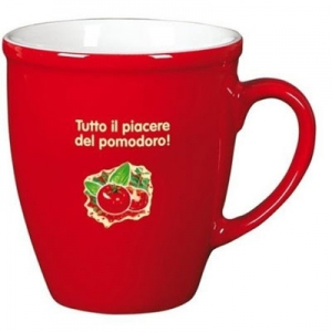Keramikinis puodelis Justyna red