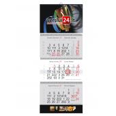 Triju daliu 2 reklamos plotu sieninis kalendorius