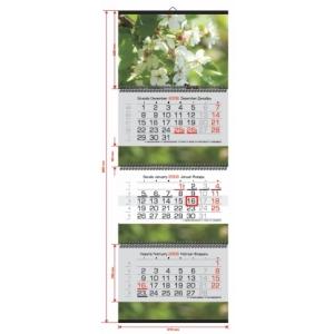 Triju daliu 4 reklamos plotai sieninis kalendorius